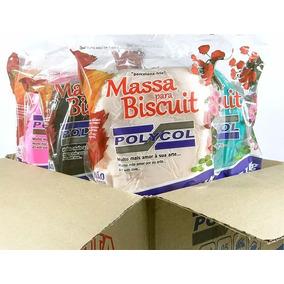 Caixa 10kg Massa De Biscuit Colorida Polycol
