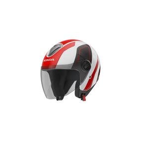 Capacete Honda Original Hnj 60 Vermelho/branco