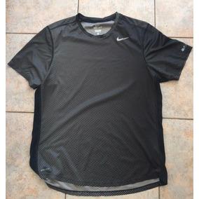 Playera Nike Run Negra M Seminueva