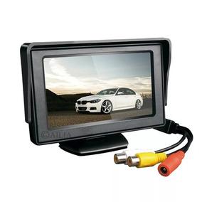 Tela Monitor Veicular 4.3 Vídeo Lcd P/ Camera Ré Dvd Escolar