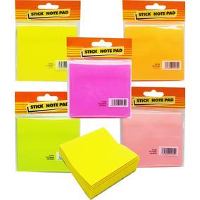 12 Bloco Adesivo Post Papel Lembrete Rascunho Color