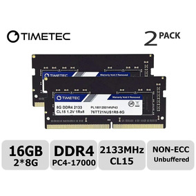 Memoria Ram Laptop Timetec 16gb Kit 2x8gb Ddr4 2133mhz M.usa