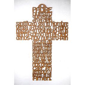 Cruz Mdf 30cm Diferentes Oraciones Personalizado Incl.