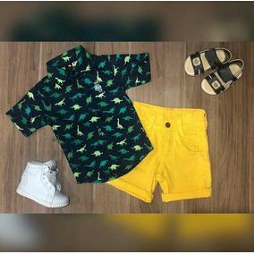 Camisa Tamanho 3 3 para Meninos Verde musgo no Mercado Livre Brasil 552513f4490