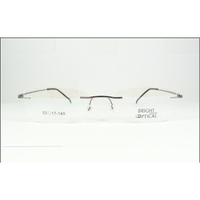 9b6fef46de129 Armação Discreta Grafite Invisível Óculos Grau Titanium A569. R  69 99