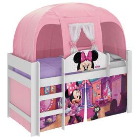 Cama Infantil Com Barraca Minnie Disney Play Rosa Pura Magia