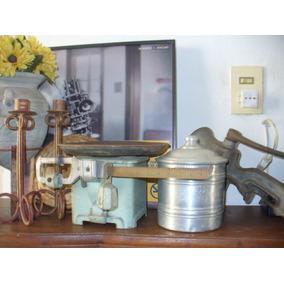Antigua Balanza De Plato Para Rincon Vintage De Tu Cocina