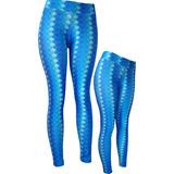 Calça Legging Fitness Sereia Escama Azul - Suplex Academia