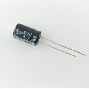 10 Pç Capacitor Eletrolítico 4,7uf 400v 105°