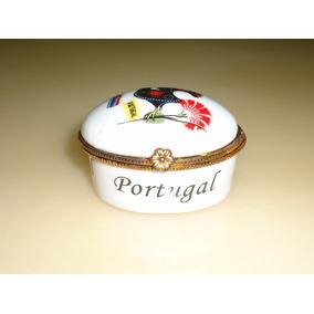 Porta Joia Porcelana De Portugal Suvenir Galo De Barcelos
