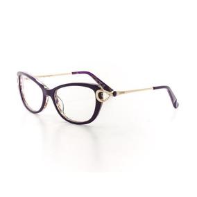 9d3b514d7aa58 Óculos De Grau Cannes 7f143 T 51 C 4 Feminino Roxo Uva