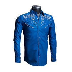 Camisa Rafael Amaya 084ca01 Arey Señor De Los Cielos Vaquera
