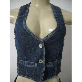 b9bced65b0 Blusa Colete Jeans Marisa Tam P 38 Usado Bom Estado