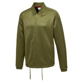 Chamarra Hombre Puma Fashion Men T7 Verde Olivo Originales