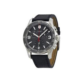 Reloj Victorinox Chrono Correa De Cuero Original Para Hombre