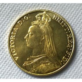 Moeda De Ouro Britânica 1891 24 K