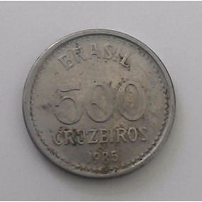 Moeda Antiga De 500 Cruzeiros De 1985