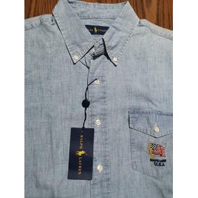 5b2b0b58cf6d8 Camisa Polo Ralph Lauren L Tipo Mezclilla Original (no Tommy
