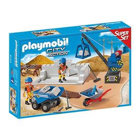Playmobil City Action Super Set Construção 6144 Sunny + Nfe