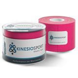 Bandagem Elastica Adesiva Kinesiosport Ks 004 Rosa