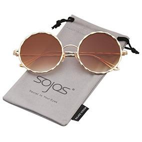 49e0ac397d Sojos Gafas De Sol Redondas Para Mujer Glitter Textured Circ