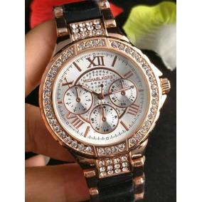 3458648b519d Reloj De Mujer Gucci Oro Rosa Nuevo Acero Inoxidable · Reloj Michael Kors -  Blanco Negro