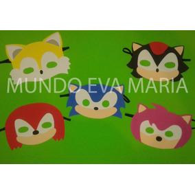 Antifaz Mascara Souvenirs De Sonic X 30 Mundo Eva
