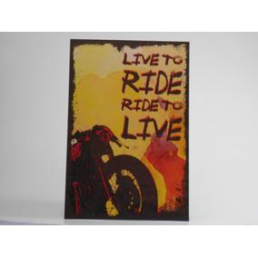 Placa Decorativa Liveto Ride Rideto Live