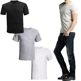 Camisas Masculina Lisa Kit Com 8 Gola Redonda Várias Cores