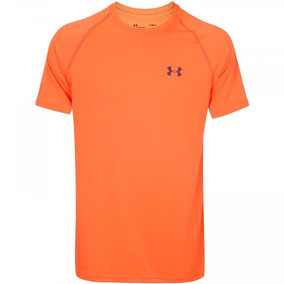 Camiseta Under Armour Tech - Masculina - Cor Laranja cinza 3427ffc63c8a4