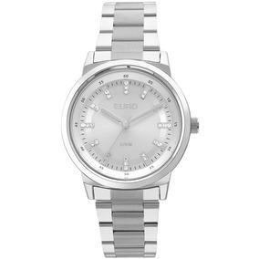 Relógio Euro Feminino Prateado Analógico Eu2036ylh/3k