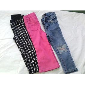 3 Pantalones De Niña 2 Años