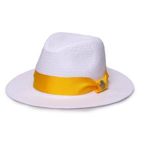 Chapeu Panama Amarelo - Acessórios da Moda no Mercado Livre Brasil 88af8d423bf
