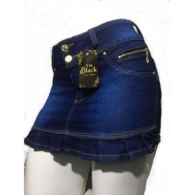 Shorts Saia Jeans Escuro
