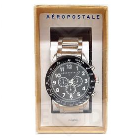 Relógio Aeropostale Masc Original Importado Prata Na Caixa