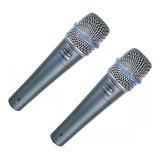 Dos Microfonos Shure Beta 57a Supercardioide Promoción 2x1