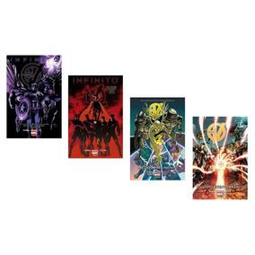Kit 4 Hq Marvel Capa Dura - Vingadores E Novos Vingadores