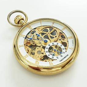 4c6604a93c9 Relógio De Bolso Technos Folheado A Ouro - Relógios no Mercado Livre ...