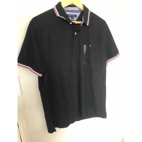 Camisa Pólo Tommy Hilfiger Original Cor Preta Tamanho G a257864bc9795