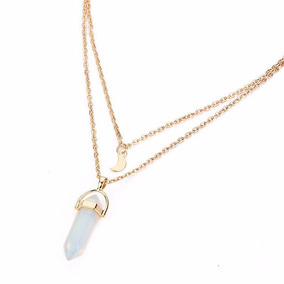 14f6f310cb4a Mujeres Damas Collar Cristal Ópalos Colgante... (opal) por eBay