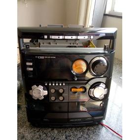 Frente Do Mini System Philips Fwc555 Completa E Funcionando.
