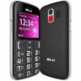 Telefone Celular P Idosos Blu Tecla Sos Emergencia Preto