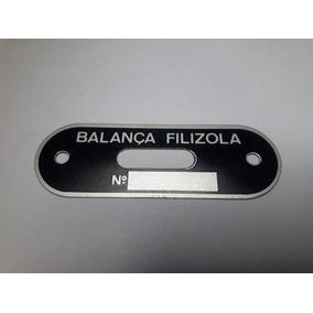 Balança Filizola Antiga Plaqueta Do Nível 100% Original