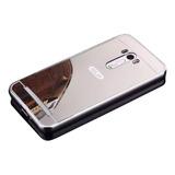 Capa Case Bumper Espelhada Asus Zenfone 2 Ze550kl Prata