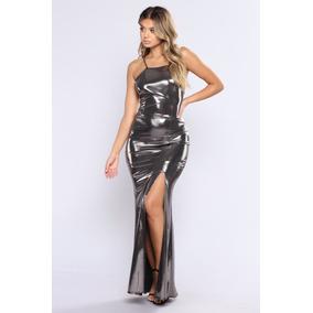Vestido Largo Metalico