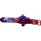 Relógio Homem Aranha Digital Projetor 24 Imagens Infantil