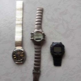 Set 3 Relojes Vintage Para Reparar Refacciones Casio Orient