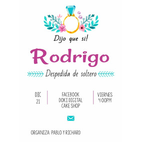 Invitación Digital Imprimible Para Despedida De Soltera