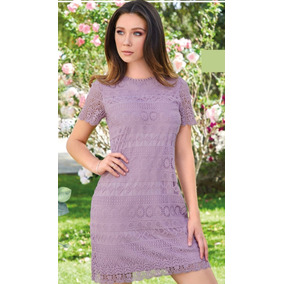 Vestido Lavanda De Crochet Cklass 998-03