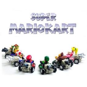 Super Mario Kart Miniatura Kit C/ 6 Carrinhos Fricção!